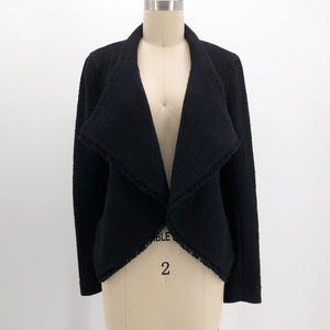 LIKELY Jeanne Black Open Front Cardigan Jacket